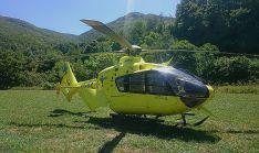 Un helicóptero del Sacyl.