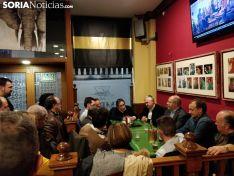 Una veintena de afiliados arropan a Igea en Soria