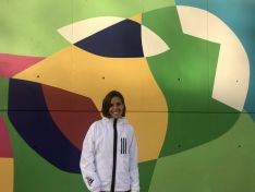 Marta Pérez, atleta soriana del CA Adidas. Imagen obtenida del Twitter de Marta Pérez.