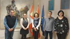 Responsables del Proyecto MLF con la Universidad de Cardiff. Junta de Castilla y León