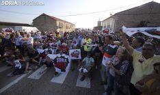 Imagen de la concentración de la plataforma en Villaciervos el pasado agosto. /SN