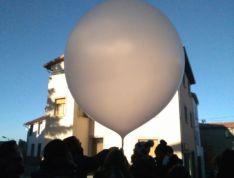 Imágenes del lanzamiento de los globos estratosféricos.