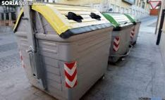 Un contenedor amarillo en la capital soriana. /SN