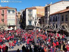 Aficionados del Atlético Osasuna en Soria.