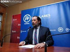 Hernando en rueda de prensa. Soria Noticias