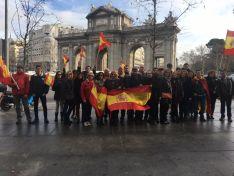 Sorianos, en la concentración de Madrid de este domingo.