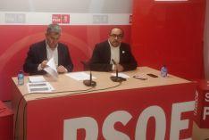 Antón y Rey en rueda de prensa.