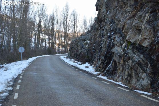 Una de las últimas curvas, antes de llegar a Yanguas, desde la localidad vecina riojana de Enciso. Patxi Veramendi