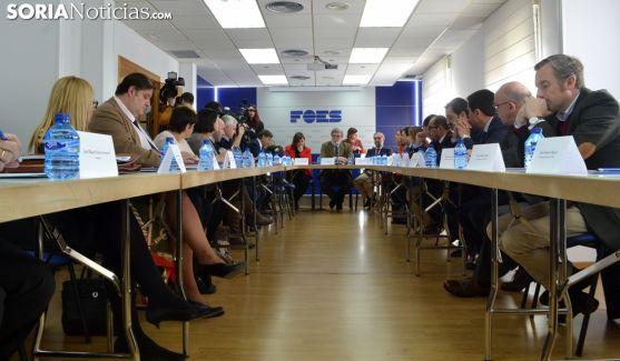 Imagen del salón de FOES este viernes. /SN