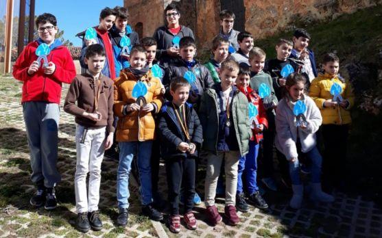 Participantes del Torneo de ajedrez en Los Rábanos.