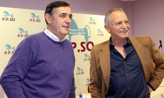 De Miguel (dcha.) y Antonio Pardo, de la P.P.SO. /SN