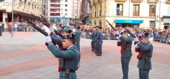 Guardia Civil en el desfile del 12 de octubre en Soria. SN