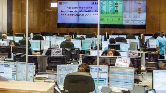 Sala de comunicación del servicio 1-1-2.