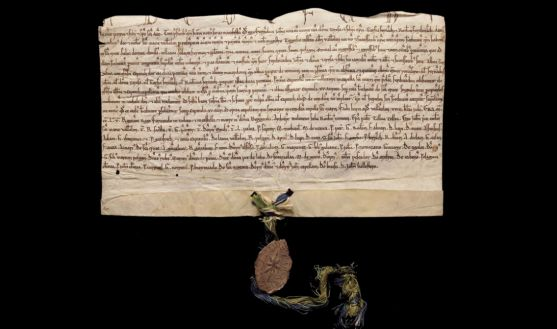 Escritura del 14 de junio de 1217 en la que se enuncia a Fernando como rey.