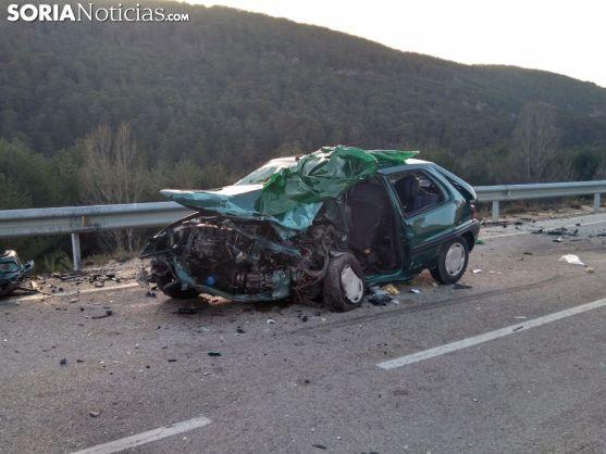 Imágenes del accidente. Foro: Soria Noticias