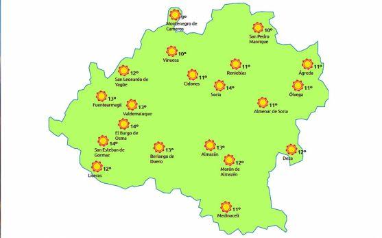 El mapa meteorológico a las 15:00 h de este jueves. /eltiempo.es