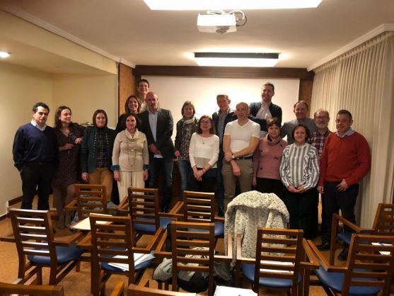 Foto de Familia del Curso sobre Roncopatía y Apnea del Sueño organizado por el CODE en Soria.