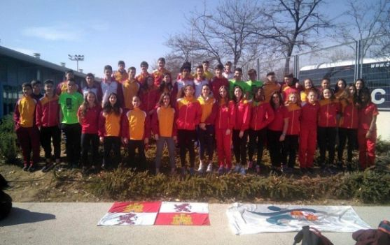 Combinado castellano y leonés en el Trofeo Ibérico. /Fetacyl