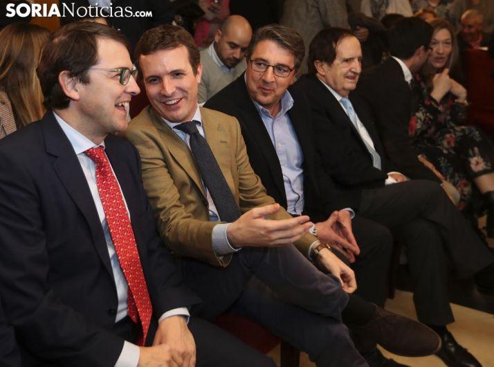 Una imagen de la visita de Casado a Soria. /SN