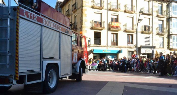 Un simluacro de bomberos y Policía Local. /SN