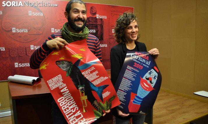 Inés Andrés y 'Nano' López en la presentación del Carnaval. /SN