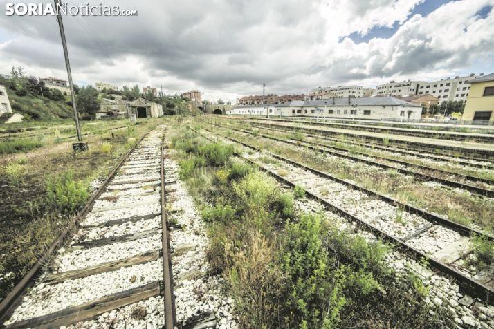 Imágen de las vías en Soria