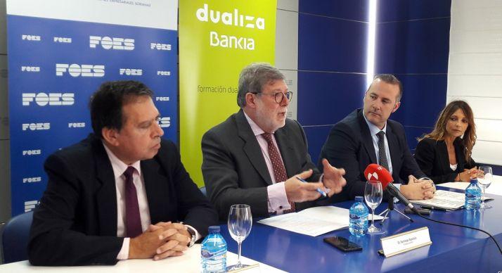 Barrio (izda.), Aparicio, Torres y Rodríguez. /FOES