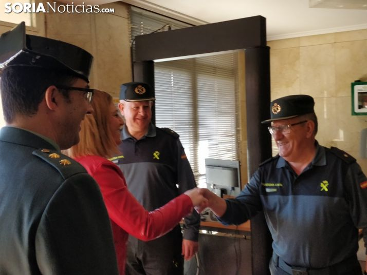 Barcones en su visita hoy a la comandancia. SN