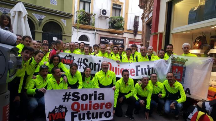 """Foto 1 - La Soria Ya, viaja a Sevilla y se """"cuela"""" en el homenaje a Abel Antón"""