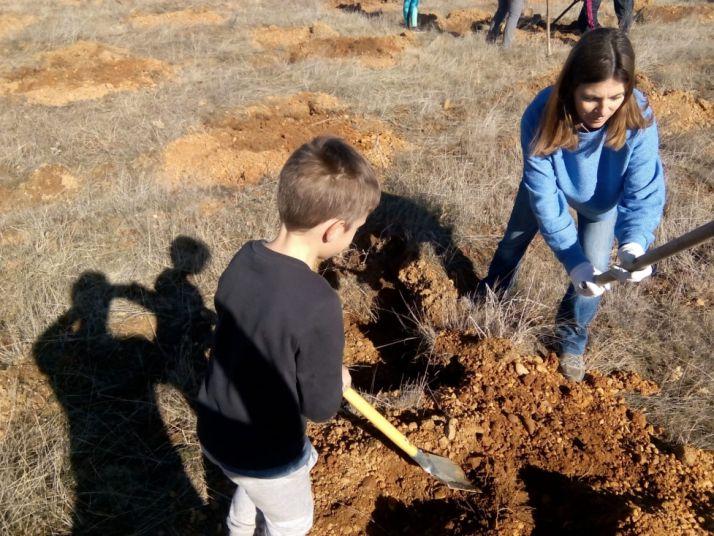 Actividad medioambiental en Valonsadero. Cedida