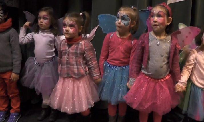 Niños olvegueños en Carnaval.