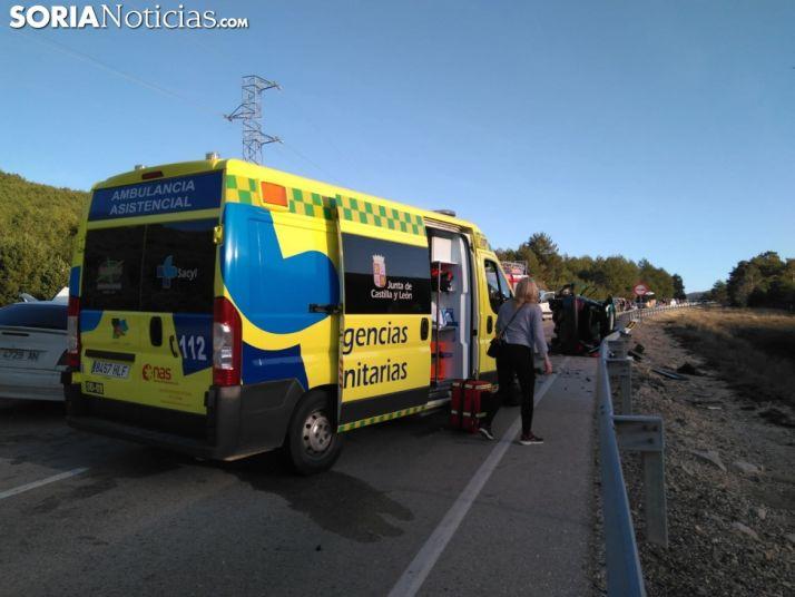 Imágen del accidente. Foto: Soria Noticias