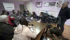 Jorge Ramiro, en rueda de prensa
