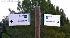 Señalización de senderos en Alconaba. /SN