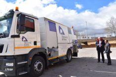 Nuevo camión barredor de la Diputación de Soria.