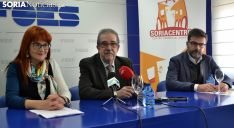 Ana Calvo, Jesús Muñoz y Eduardo Munilla este viernes en la presentación del Eurocentrín. /SN