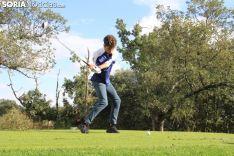 Fernando Zorzo, en el campo de golf de Pedrajas. SN