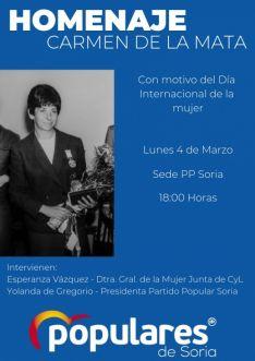 El cartel anunciador del homenaje