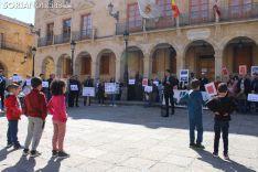 El Colectivo Musulmán se ha reivindicado en la plaza Mayor de Soria. SN