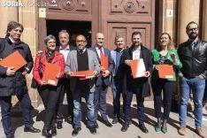 El PSOE presenta sus listas en los Juzgado de Soria. /Jasmín Malvesado