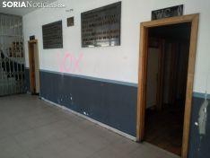 Imagen de las pintadas en el edificio. /SN