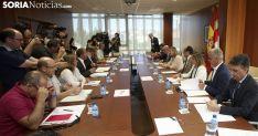 Reunión de los agentes implicados en el Plan Soria. /SN