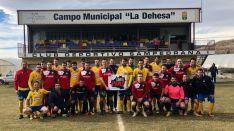 Sampedrana y Norma muestran su apoyo a la Soria YA en La Dehesa de San Pedro Manrique.