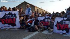 Imagen de archivo de la concentración de la Soria Ya! en Villaciervos.