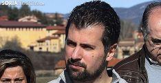 Luis Tudanca en una visita a Pinares en febrero de este año. /SN