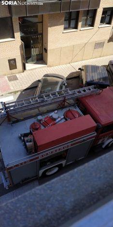 Los bomberos han intervenido en la calle Virgen del Espino.