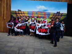 Apoyo a la Soria Ya desde el Camp Nou.