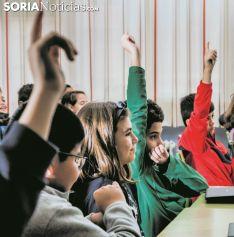 Alumnos sorianos en una imagen de archivo. SN