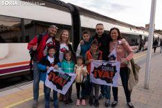 Fotos: Los autobuses sorianos y el tren ya van camino a Madrid