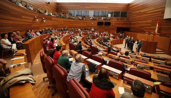 Una imagen de la sede parlamentaria regional este domingo.